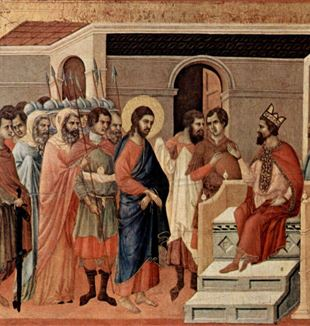 Jesus at Herod's Court. Wikimedia Commons