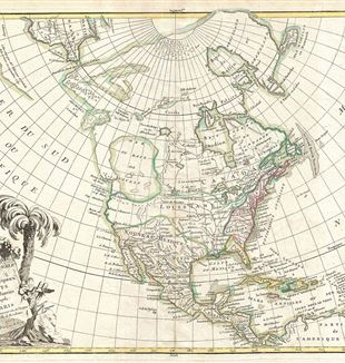 Antique Map of North America. Wikimedia Commons