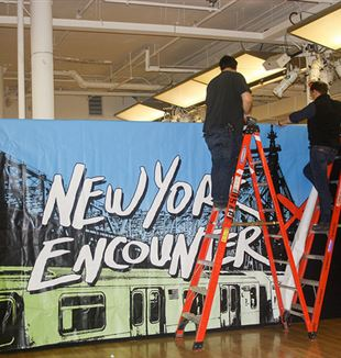Setting up for the New York Encounter