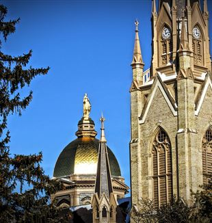 University of Notre Dame's Basilica of the Sacred Heart. Wikimedia Commons