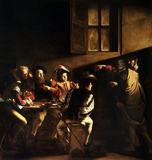 'The Calling of St. Matthew' by Artist Caravaggio via Wikimedia Commons