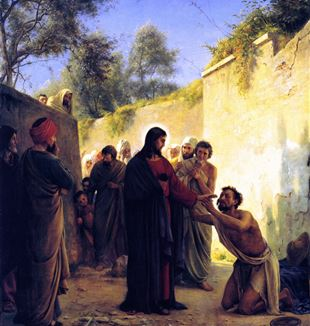 Healing of the Blind Man by Jesus Christ. Wikimedia Commons