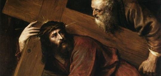 Christ Carrying the Cross by Titian via Wikimedia Commons