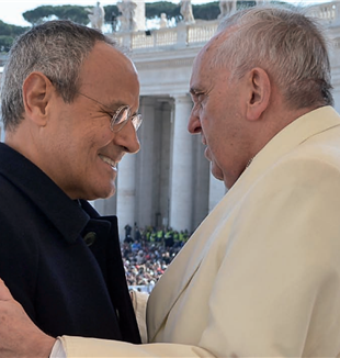 Fr. Carron with Pope Francis. Traces