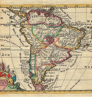 Antique Map of South America. Wikimedia Commons