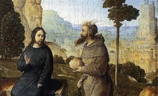 The Temptation of Christ by Juan De Flandes via Wikimedia Commons