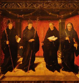 The Benedictine Saints by Jan Joostsz van Hillegom. Via Wikimedia Commons