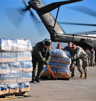 2010 Haiti earthquake relief efforts by the US Army. Via Wikimedia Commons