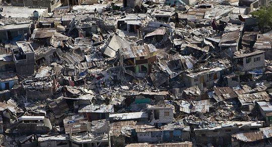 Haiti earthquake damage. Via Wikimedia Commons