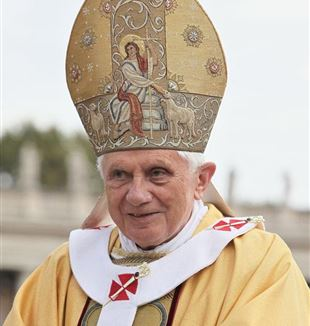 Pope Benedict XVI. Photo by Kancelaria Prezydenta via Wikimedia Commons