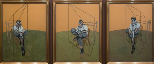 Three Studies of Lucian Freud by Francis Bacon. Via Flickr