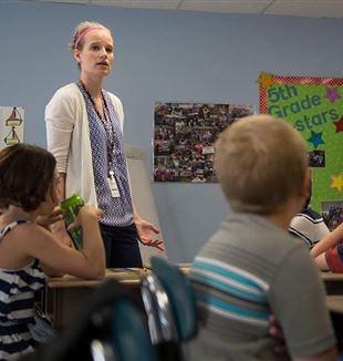 Middle School teacher. U.S. Air Force photo by Mark Herlihy