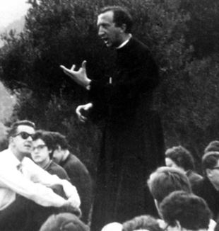 Fr. Luigi Giussani with students, 1960.
