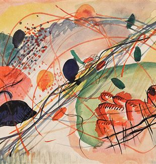 Aquarell 6 by Wassily Kandinsky. Via Wikimedia Commons