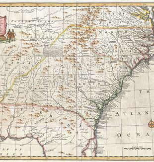 Antique Map of the Southeastern United States. Wikimedia Commons