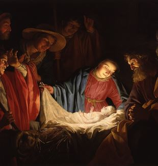 'Adoration of the Shepherds' by Gerard van Honthorst via Wikimedia Commons