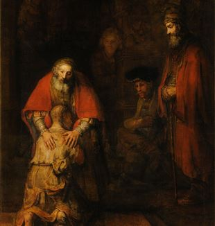'Return of the Prodigal Son' by Rembrandt via Wikimedia Commons