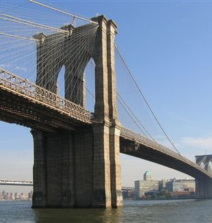 The Brooklyn Bridge. Wikimedia Commons