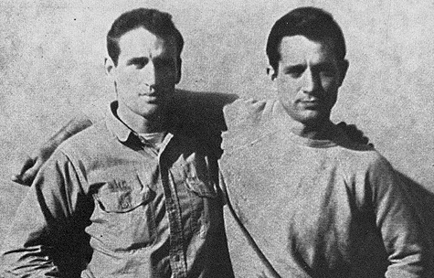 Jack Kerouac (right) and Neal Cassady. Photo by FoundSF via Wikimedia Commons