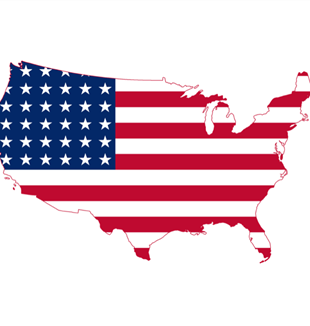 United States Flag Map. Wikimedia Commons