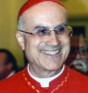 Cardinal Tarcisio Bertone, prefect of the congregation for the doctrine of the faith. Wikimedia Commons