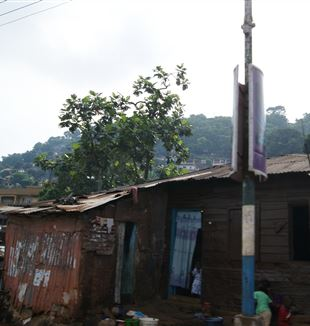 Residential area in Freetown, Sierra Leone. Wikimedia Commons