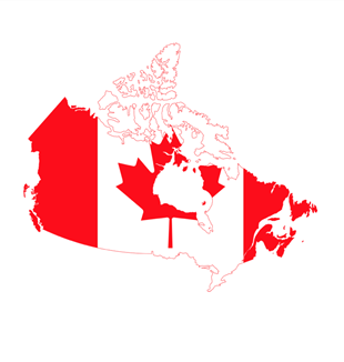 Canada Flag Map. Wikimedia Commons