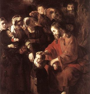 'Christ Blessing the Children' by Nicolaes Maes via Wikimedia Commons