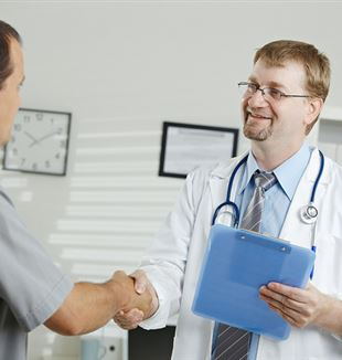 Doctor Greeting Patient. Flickr