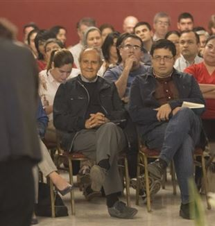 Fr. Julián Carrón (left) and Favio Chávez
