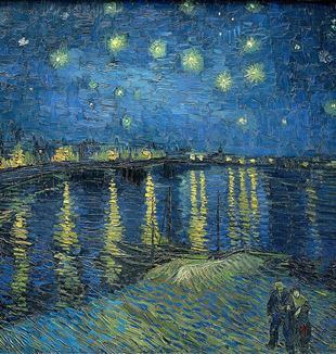 """Starry Night over the Rhone"" by Vincent Van Gogh. Via Wikimedia Commons"