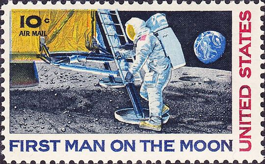 First Man on the Moon. Via Wikimedia Commons