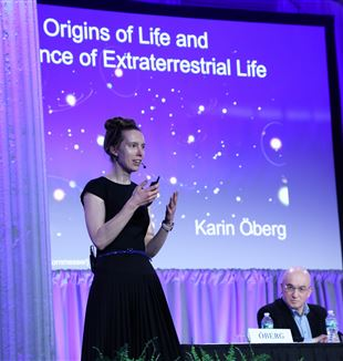 "Karin Öberg at ""Beyond the Moon...to the Farthest Reaches."""