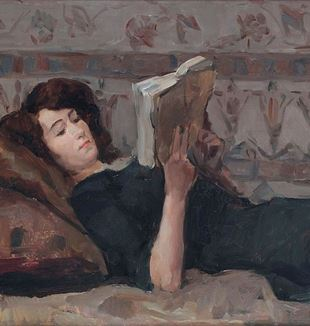 """Reading Woman on a Couch"" by Isaac Israels. Via Wikimedia Commons."