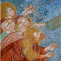 """Christ and the Apostles."" Detail from the frescoes with Episodes from the Life of Christ, Church of Santa Margherita (c. 13th century), Laggio di Cadore, Belluno, Italy."