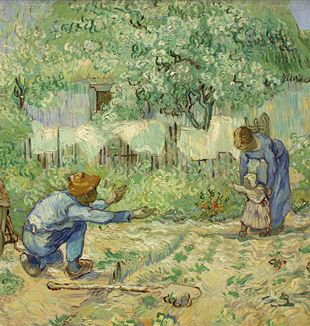 """First Steps"" by Vincent Van Gogh. Via Wikimedia Commons."