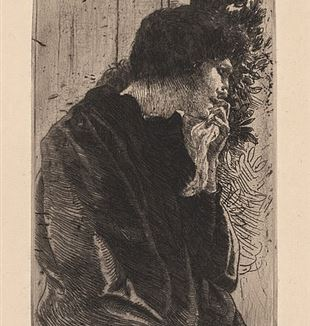 """Sadness"" by Albert Besnard. Via Wikimedia Commons."