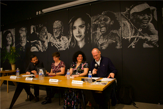 The panel in Los Angeles. Photo by Amy Hickl.