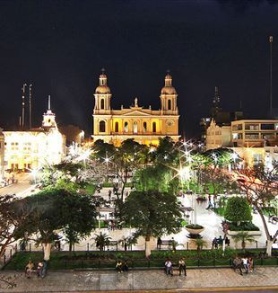 The city of Chiclayo, in Northern Perù