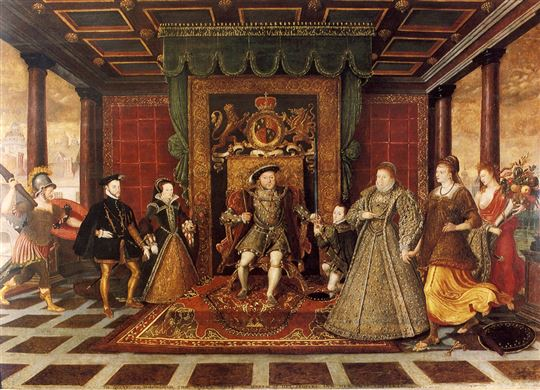 An allegory of Tudor succession. Wikimedia Commons