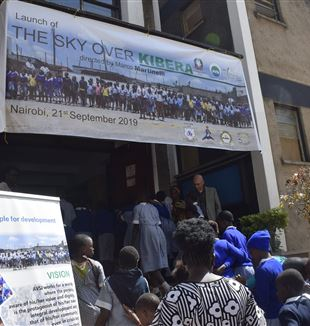 "Launch of ""The Sky Over Kibera"". Courtesy of AVSI Kenya."