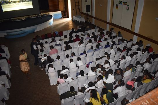 Audience of the film. Courtesy of AVSI Kenya.