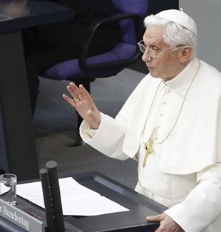 Benedict XVI during his address to the German Parliament on 22 September 2011
