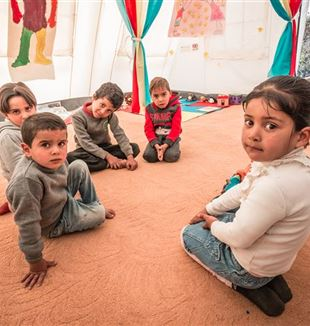 Syrian refugee children in Lebanon