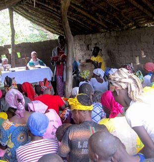 Mass in a central African village