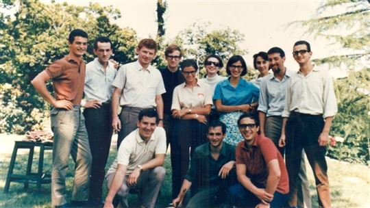 August 1968. Students from the Catholic, State and Polytechnic universities who were dear friends of Giussani.