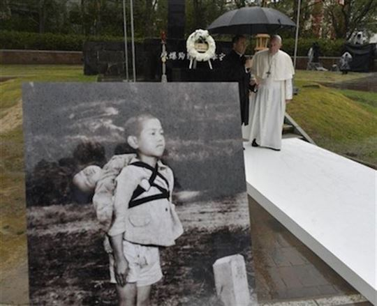 ''The fruit of war'', the image and symbol that is dear to the Pope