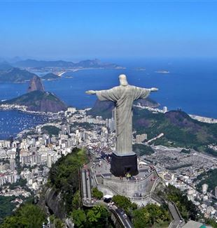 The statue of Christ the Redeemer on Mount Corcovado