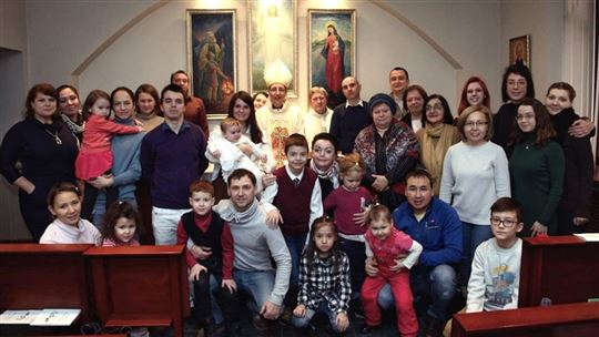 Fr. Livio with friends from Almaty