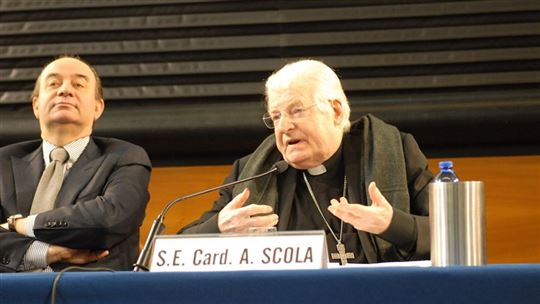 Rector Franco Anelli and Cardinal Scola